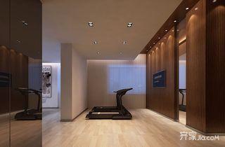 210平米简约四房装修健身房效果图