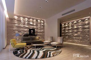 210平米简约四房客厅装修效果图