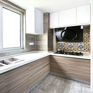 117平米简约三居装修厨房布置图