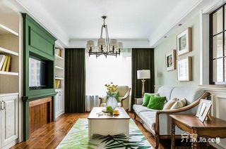 美式风格两居装修客厅设计图