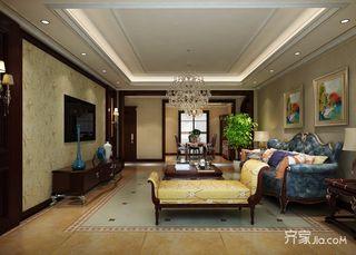 134平米欧式三居室装修效果图