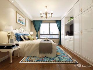 简约美式风格三居卧室装修效果图