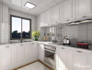 大户型美式厨房装修设计效果图