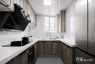 130㎡简约三居厨房装修设计效果图