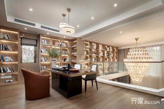 现代奢华复式别墅书房装修效果图