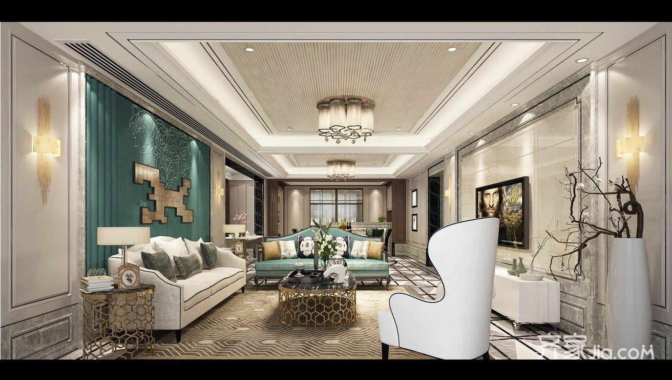 大户型欧式别墅客厅装修效果图