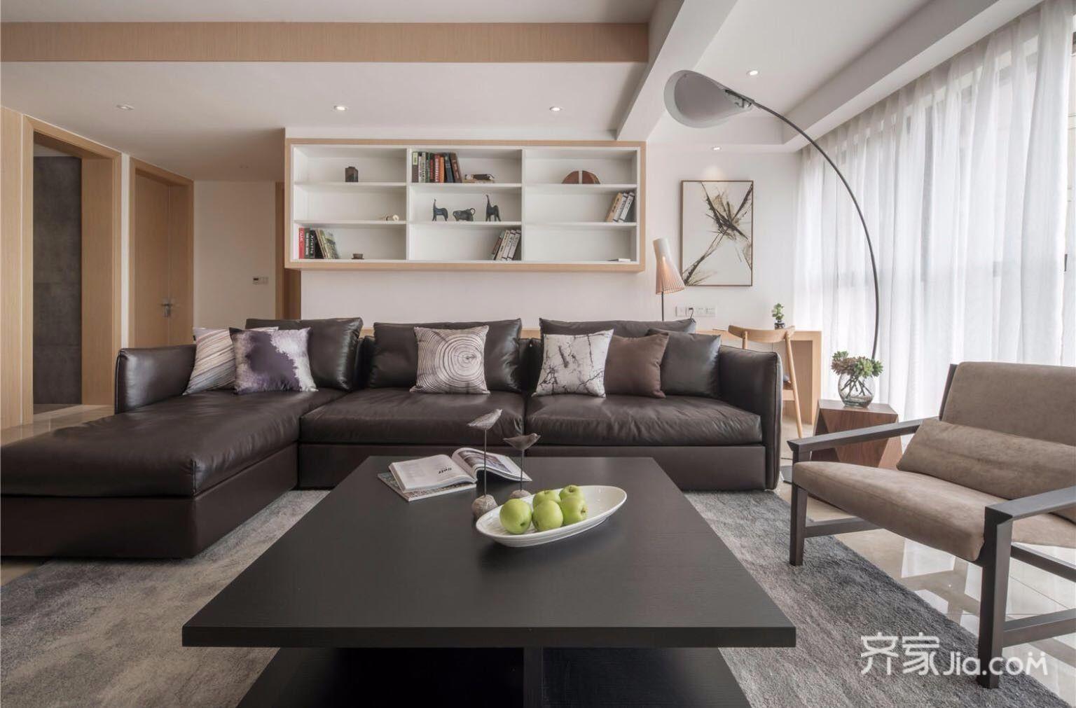 135平简约三居室装修沙发效果图