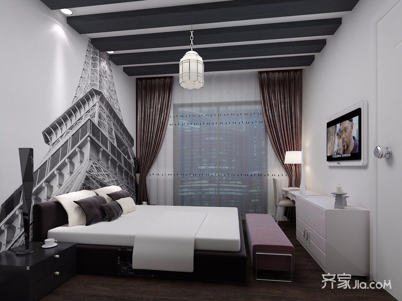 小户型现代风格公寓吊顶装修效果图