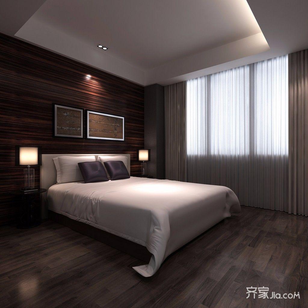 120㎡新古典风格三居卧室装修设计图