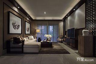 130平中式风格三居装修效果图