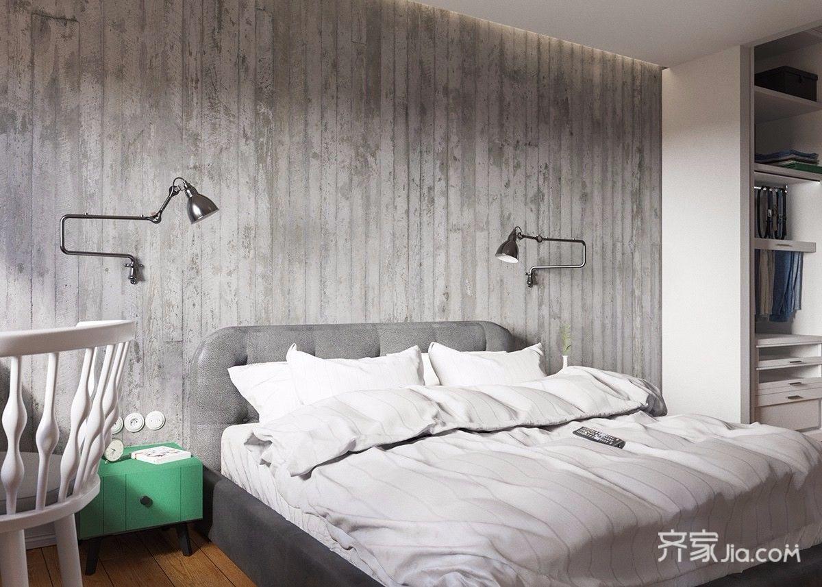 96平北欧宜家风格卧室装修效果图