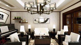 小户型新中式二居装修效果图