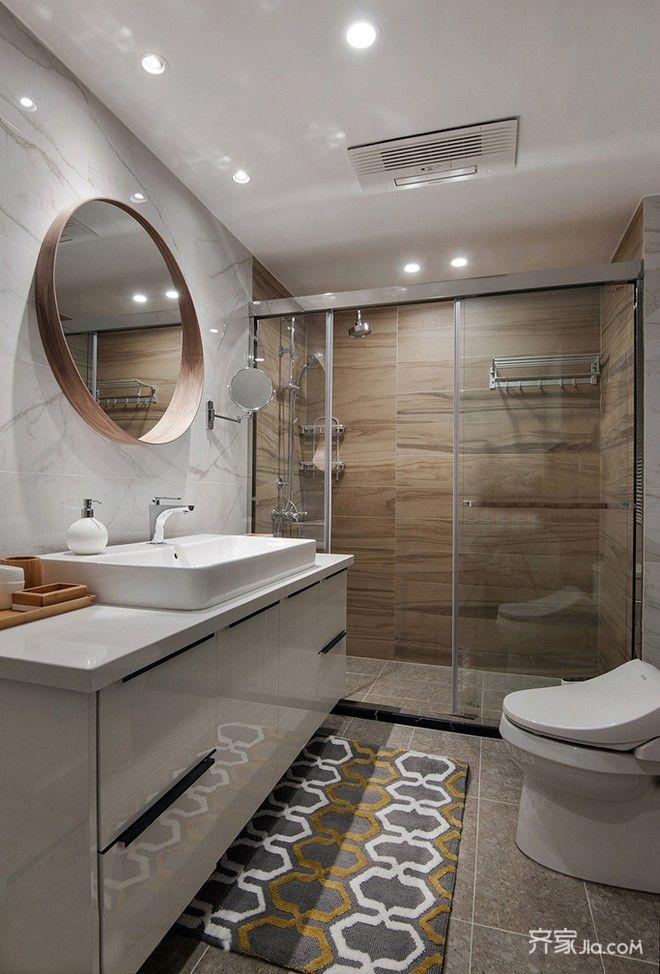 二居室宜家风装修卫生间设计图