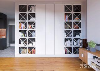 96平北欧宜家风格装修书柜设计图
