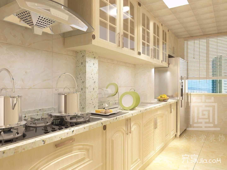 130平米简欧风格厨房装修效果图
