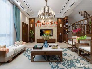 新中式复式别墅装修效果图