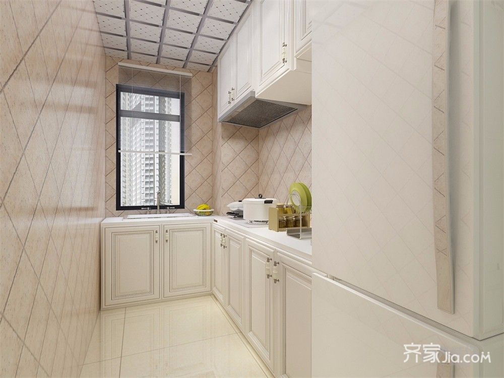 美式风格二居室厨房装修效果图