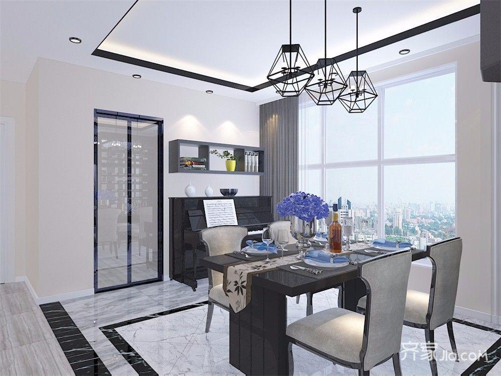 现代风格三居室装修吊灯设计效果图
