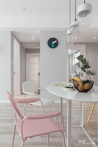 宜家风格二居装修餐桌椅设计图