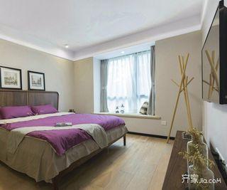 现代简约风格二居装修卧室搭配图