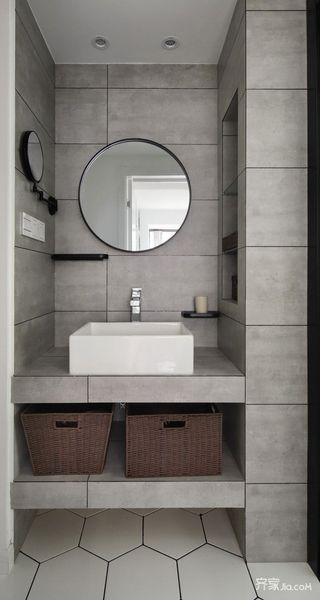 现代北欧风格三居装修洗手台设计图