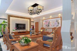 150平中式风格四房装修效果图