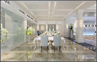 欧式风格婚礼堂接待区装修效果图