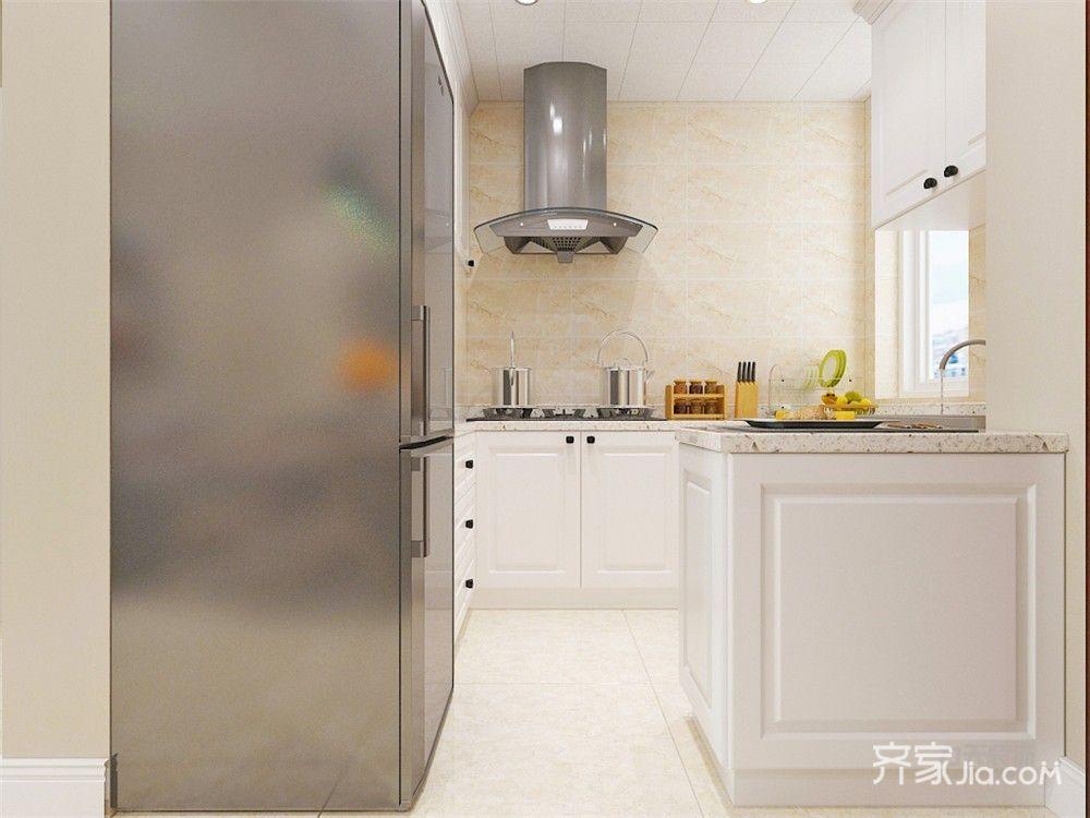 80㎡现代简约二居厨房装修效果图