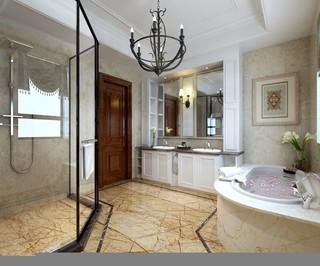 大户型美式别墅卫生间装修效果图