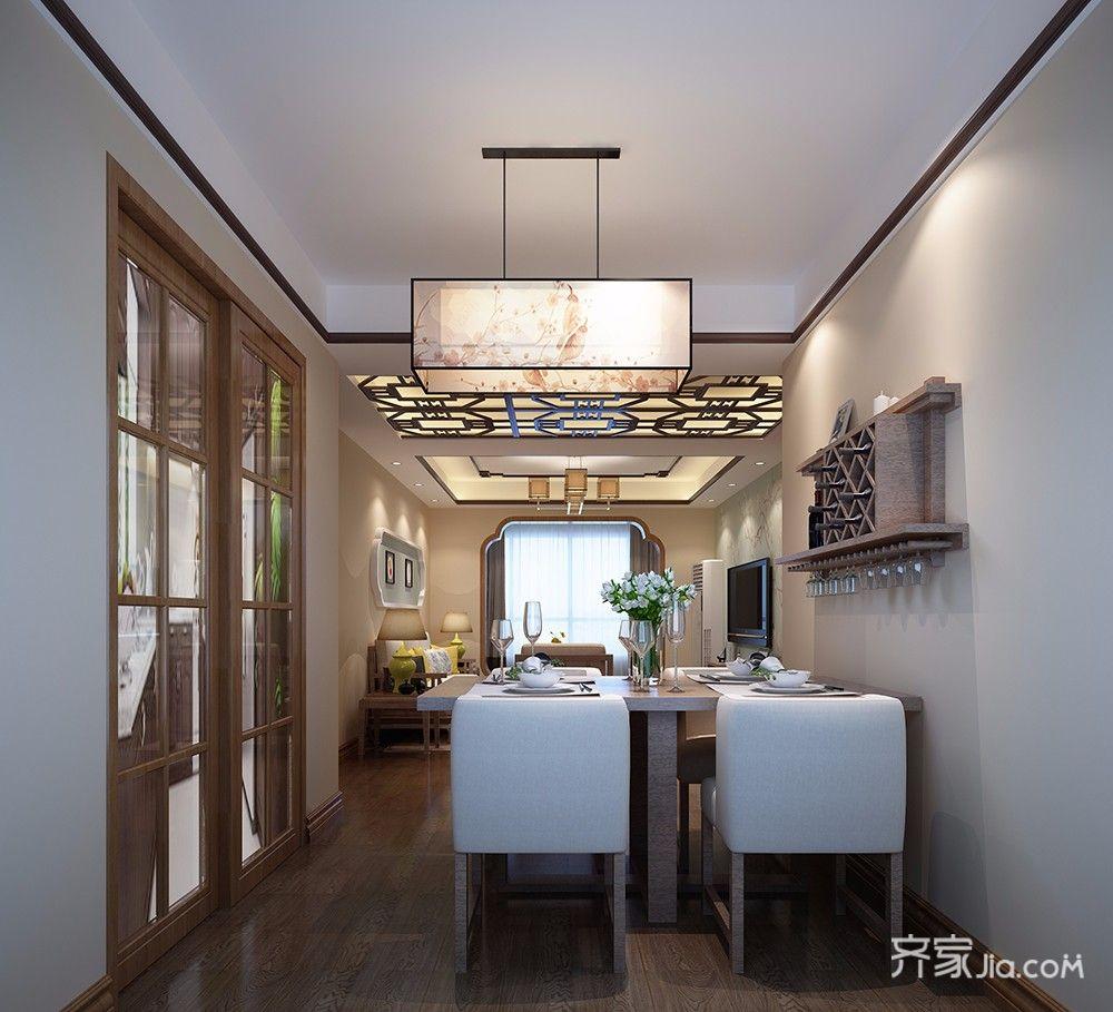 新中式风格二居餐厅装修效果图
