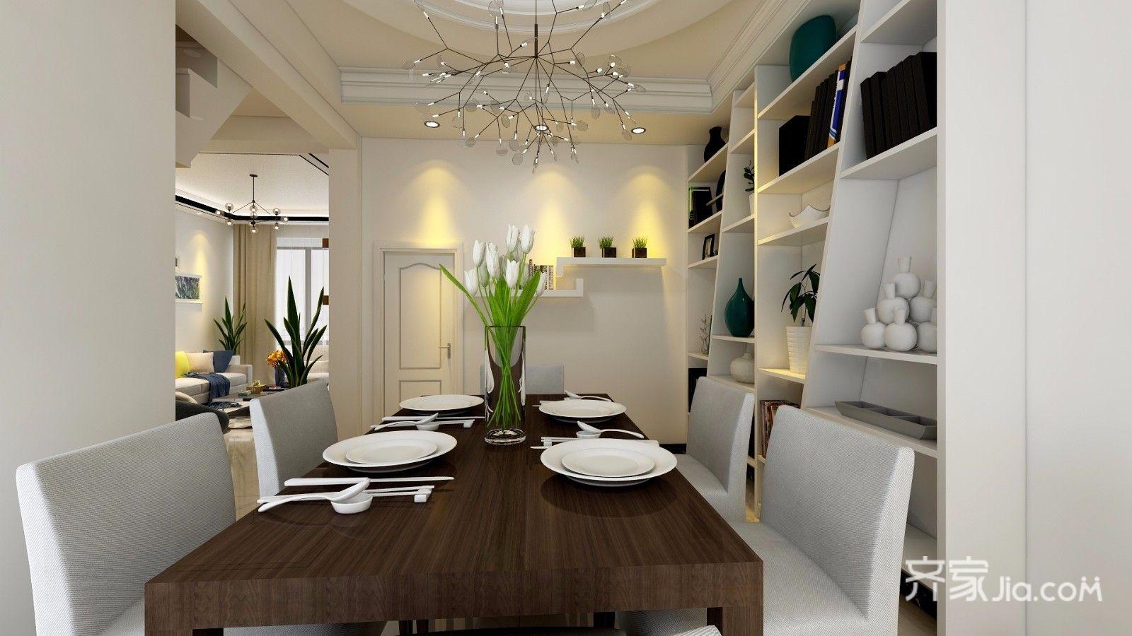 简约风格复式装修餐桌设计图