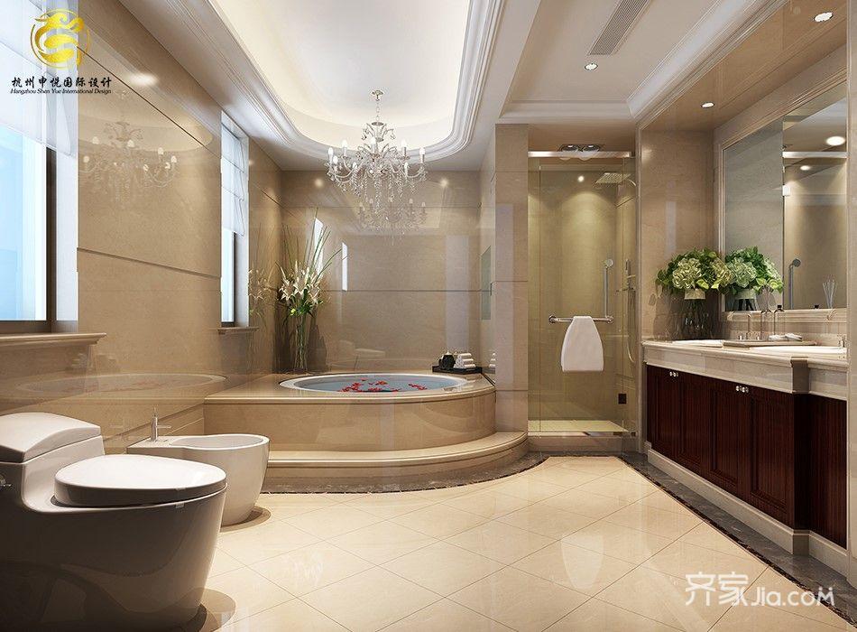 欧式风格豪华别墅卫生间装修效果图