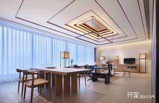 新中式风格装修客餐厅全景图