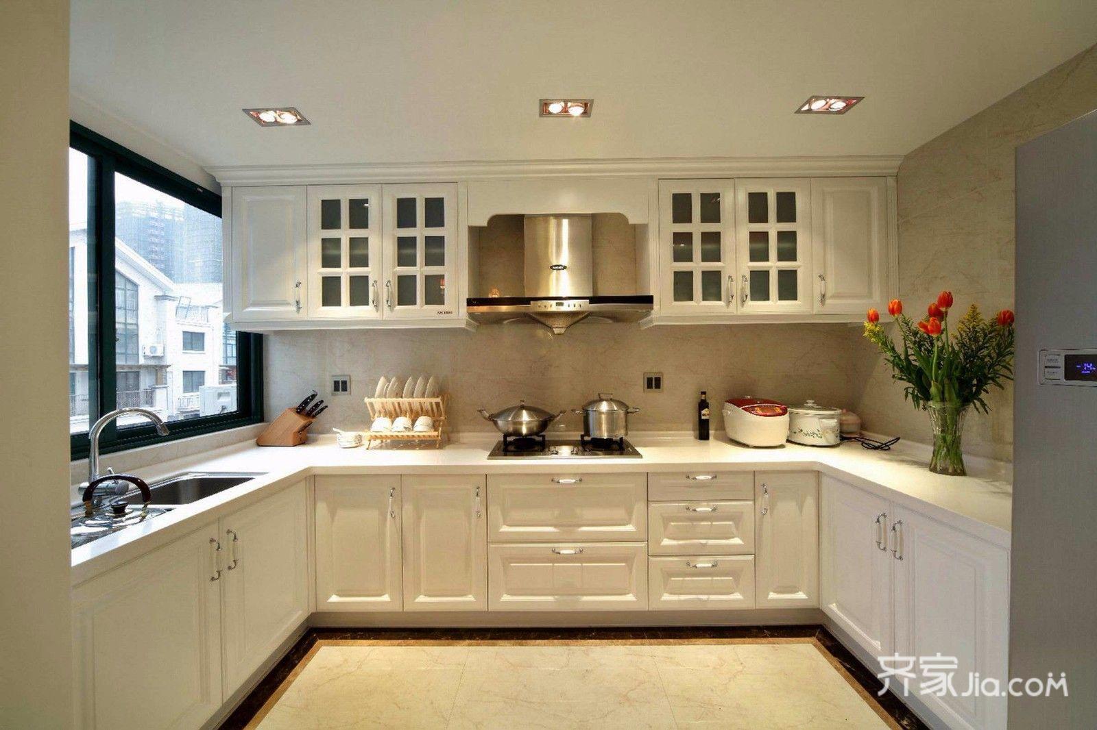 75平简约美式三居装修厨房构造图