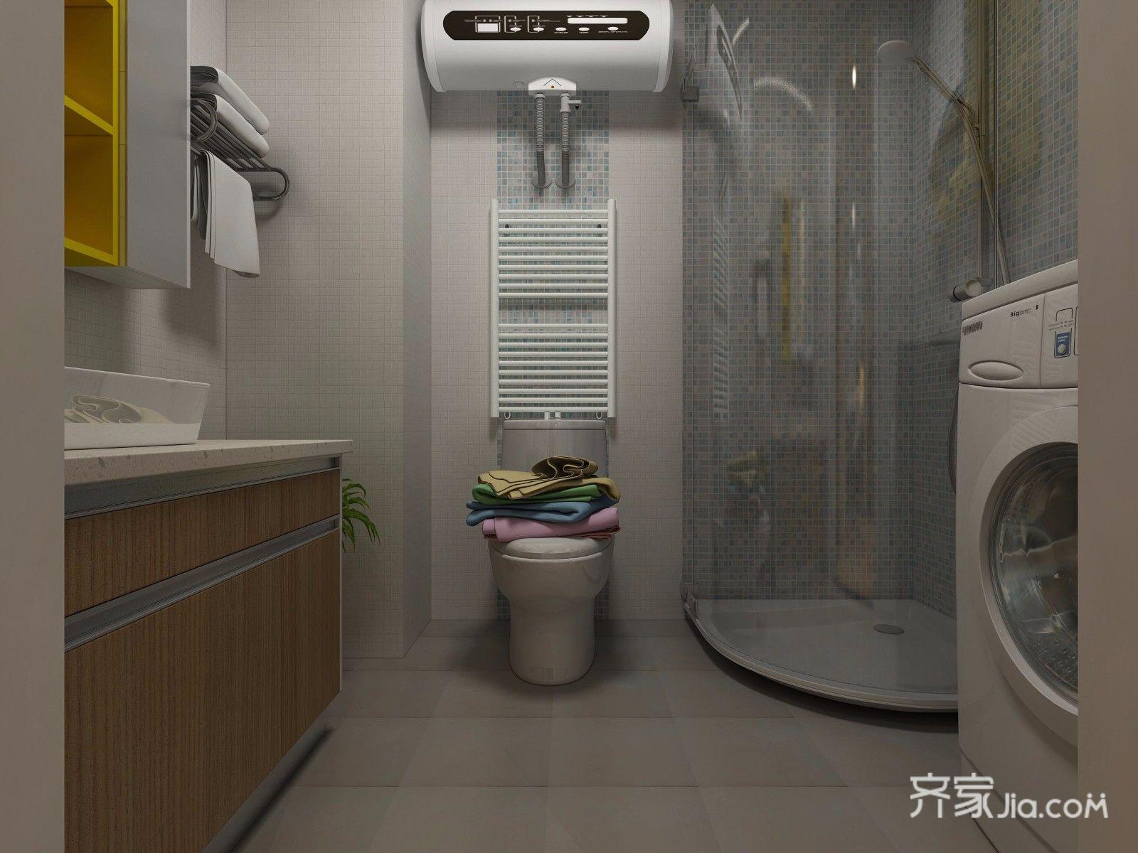 75平简约美式三居装修卫生间效果图