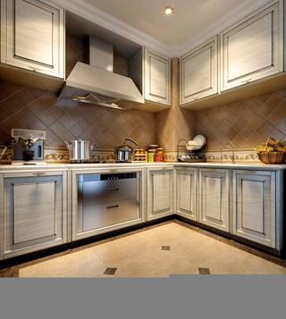 奢华欧式风格四房装修厨房效果图