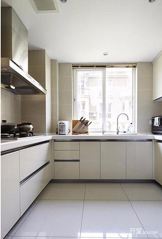 90平现代简约两居装修厨房设计图