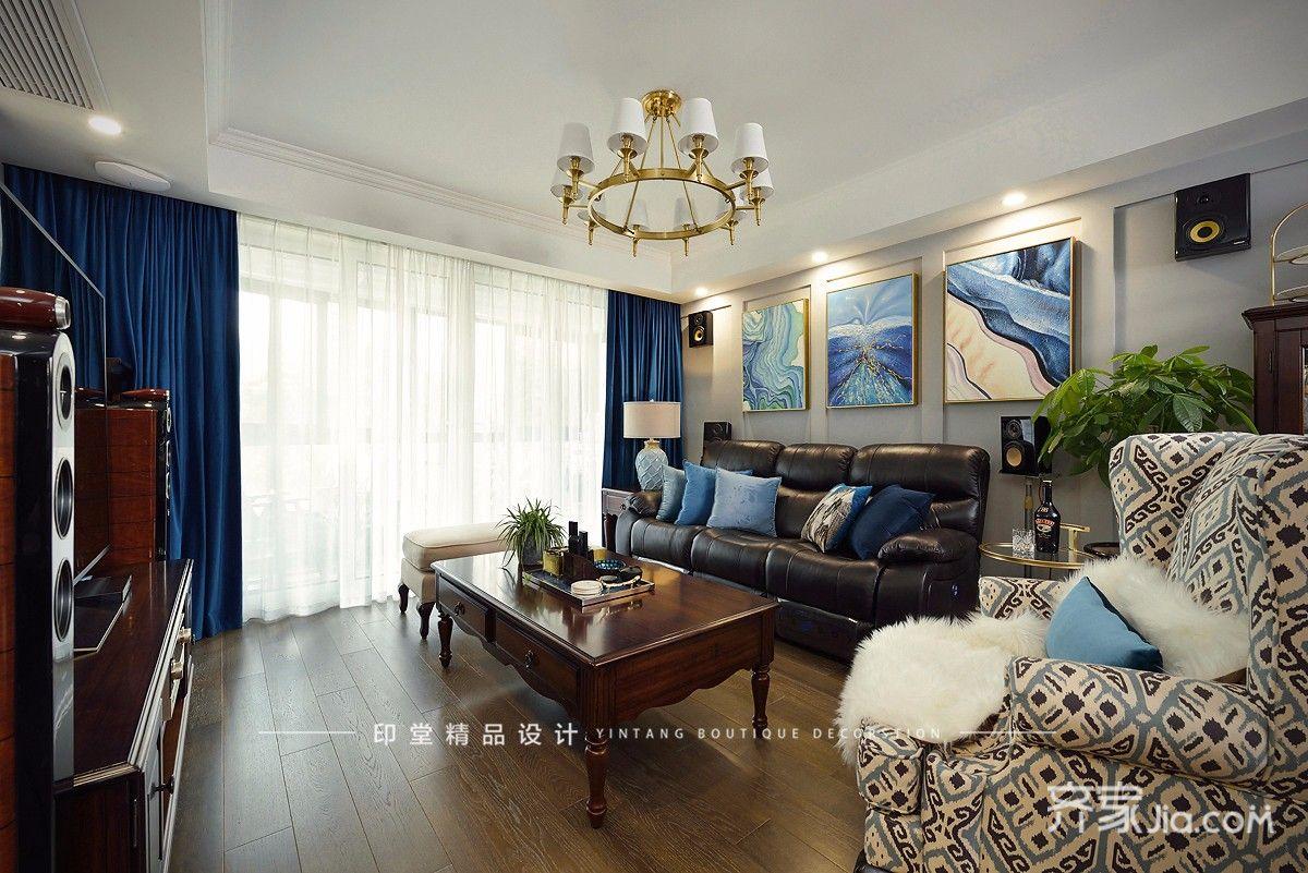 大户型美式风格四房装修窗帘效果图