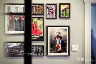 大户型美式风格四房装修照片墙布置图
