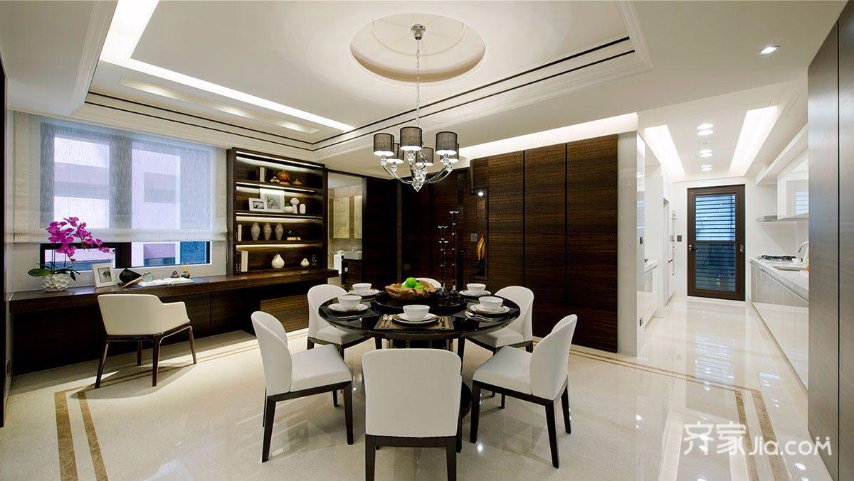 三居室新中式餐厅装修效果图