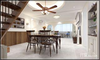 复式简美风格二居餐厅装修效果图