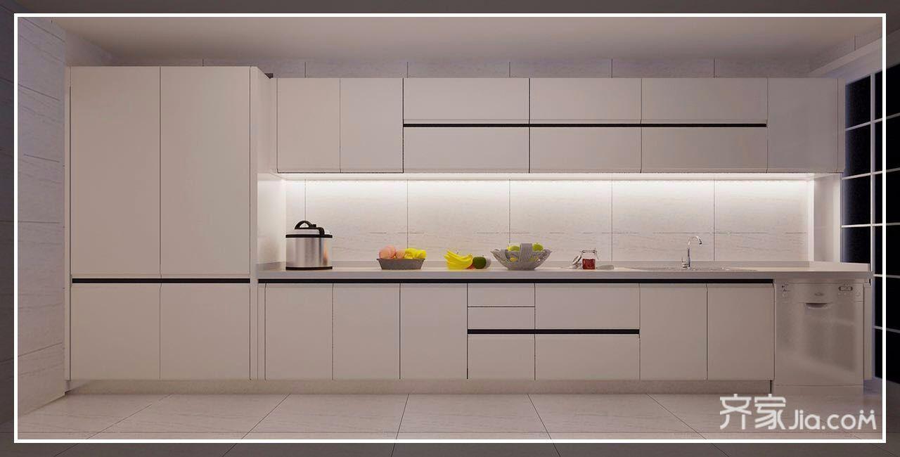 大户型简约欧式风格厨房设计图