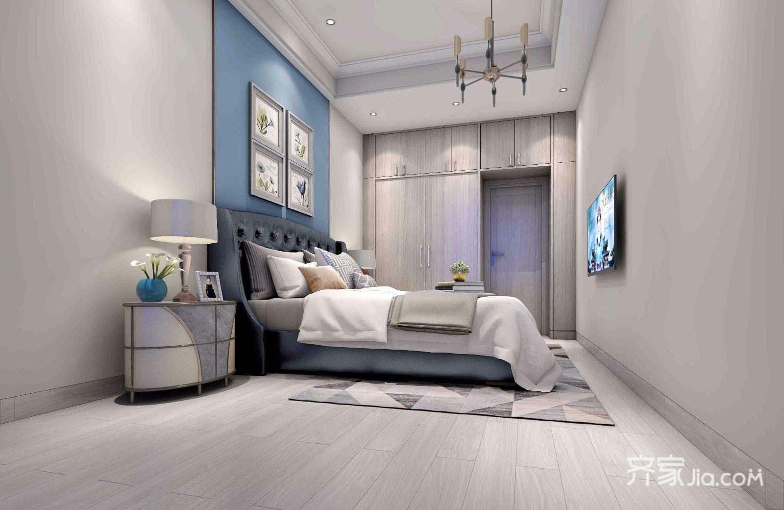现代简约风格二居卧室装修效果图