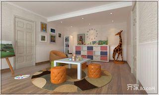 大户型轻奢欧式四房装修亲子活动室效果图