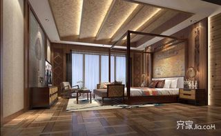 东南亚风格别墅卧室装修设计效果图