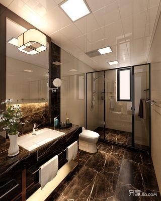 大户型中式别墅卫生间装修效果图