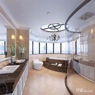 美式风格别墅卫生间装修设计效果图