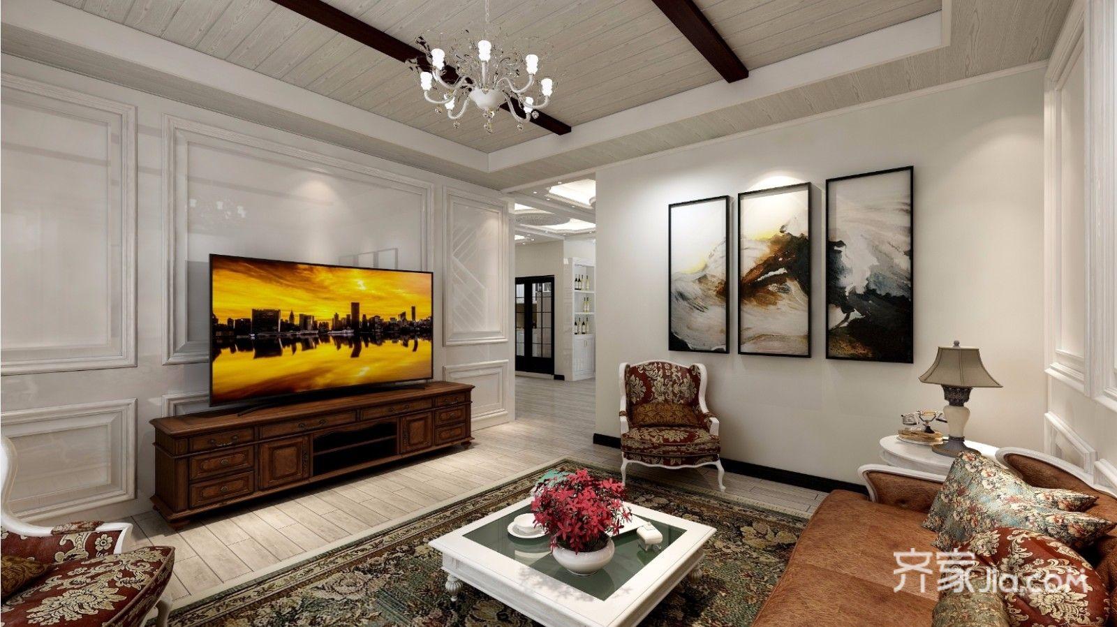 150平米欧式风格客厅装修效果图