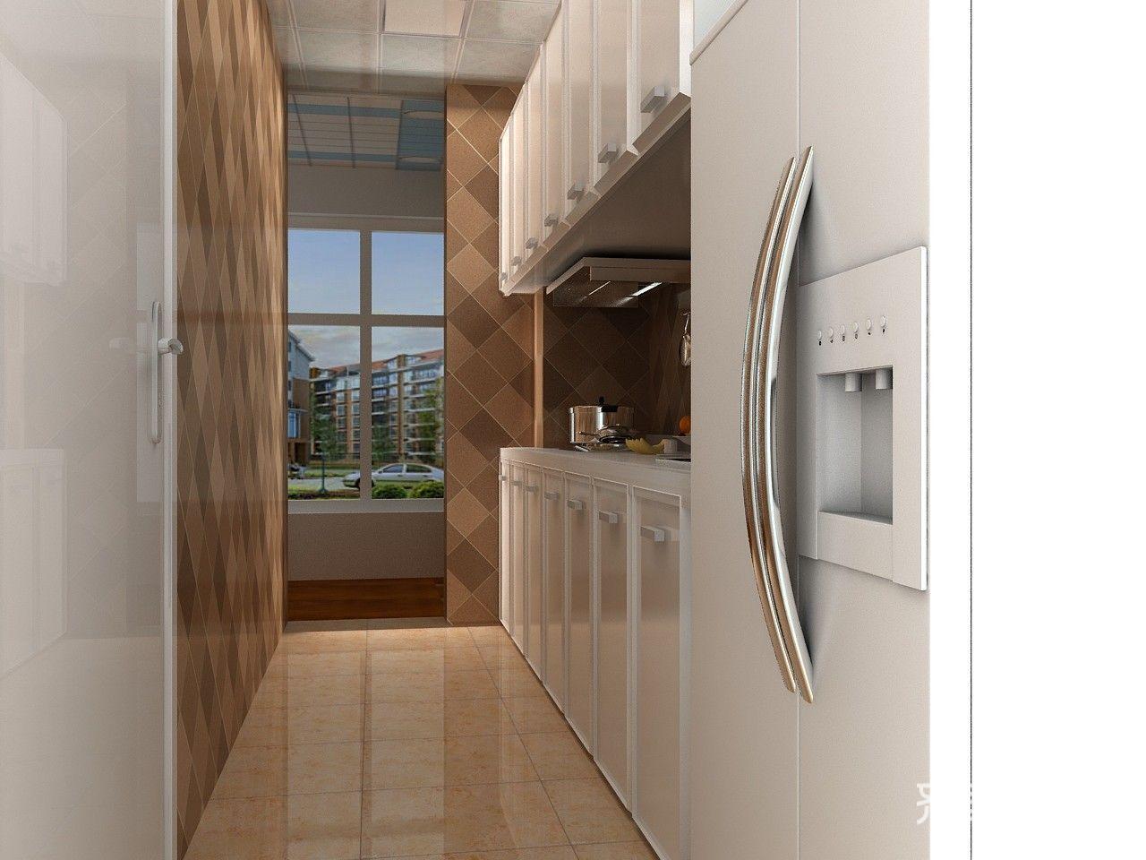 85平现代简约风格厨房装修效果图