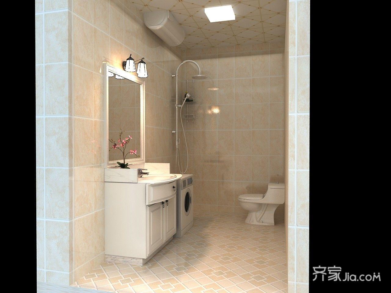 85平现代简约风格卫生间装修效果图